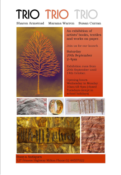 Trio exhibition invitation